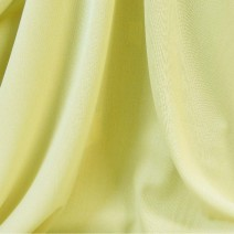 Tissu polyester-laine crêpe jaune