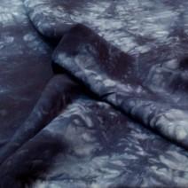 tissu lin bleu indigo