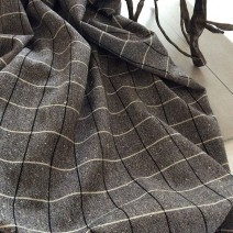 Tissu à carreaux noir et blanc