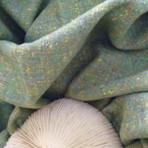 Tissu tweed vert clair