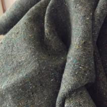 Tissu tweed vert treillis