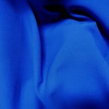 Tissu crepe de laine bleu