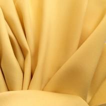 Tissu de laine crêpe envers satin jaune