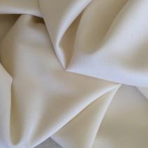 Tissu de laine crêpe envers satin écru