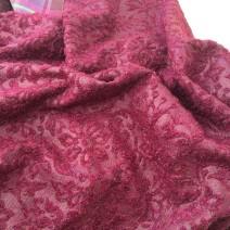 Tissu baroque framboise
