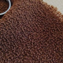 tissu marron bouclette