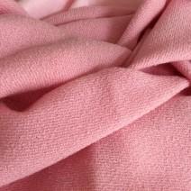 Tissu rose laine