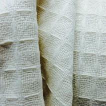 Tissu cachemire nid d'abeille écru