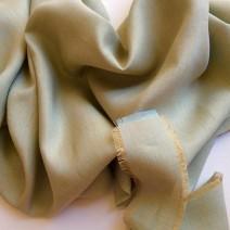 Tissu lin bleu et beige sable
