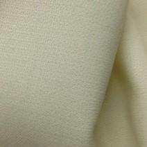 Tissu crêpe de laine écru