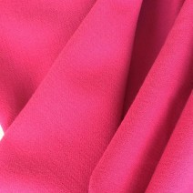 tissu crepe de laine fuchsia, tailleur
