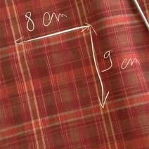 Tissus écossais en lin rouge