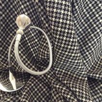 Tissu de laine pied de poule