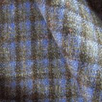 Tissu de laine à carreaux