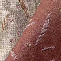 Tissu de laine satin cuivré jacquard