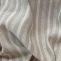 Tissu lin à rayures beige