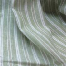 Tissu lin à rayures vert