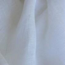 Tissu lin blanc transparent