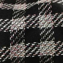 tissu noir et rose