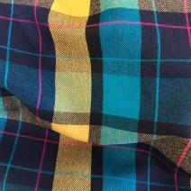 Tissu écossais multicolore