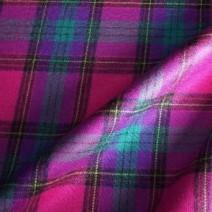 Tissu écossais en laine fuchsia
