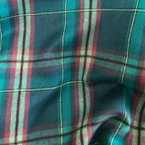 Tissu écossais turquoise