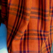 Tissus écossais orange