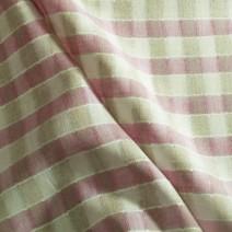 Tissus écossais en lin rose et blanc