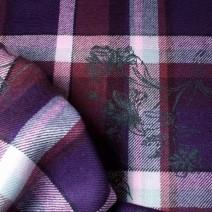 Tissus écossais prune imprimé