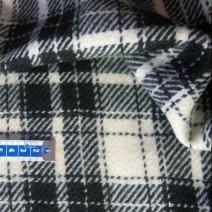 Tissu carreaux noir et blanc
