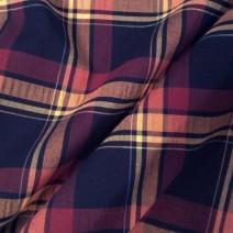 Tissu écossais polyester laine extensible