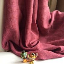 Tissu ecossais rose tissu ameublement