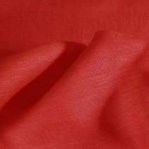 Tissu lin rouge  et orange
