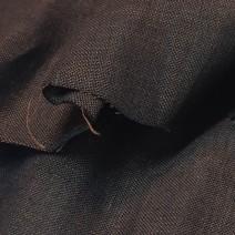 tissu chambray marron et noir