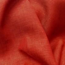 Tissu en lin chiné rouge et saumon