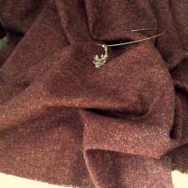 tissu faux uni marron chiné