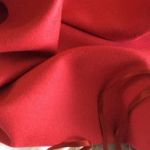 Tissu flanelle tissu rouge