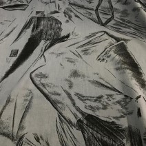 tissu imprimé abstraite