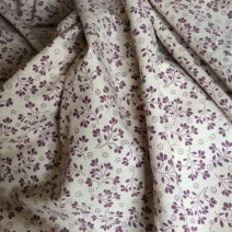 Tissu coton tissu imprimé prune
