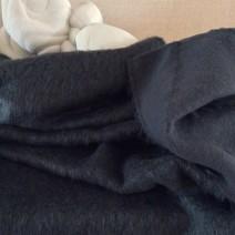 Tissu laine mohair gris