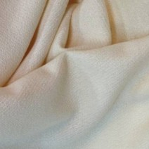 Tissu laine bouillie uni écru