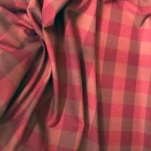 Tissu laine carreaux marron bordeaux