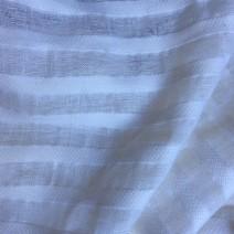 Tissu laine et lin blanc voilage