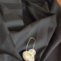 tissu laine noir Cardailhac