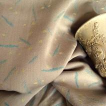 Tissu jacquard beige