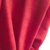 Tissu laine toile voilage rouge