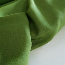 Tissu laine toile voilage vert
