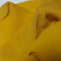 Tissu laine toile voilage jaune
