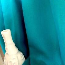 Tissu en lin bleu vert