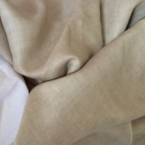 Tissu lin beige pour pantalon